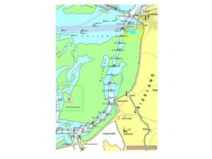 Vaarroute door de Boontjes van Harlingen naar Kornwerderzand afstand 12 km